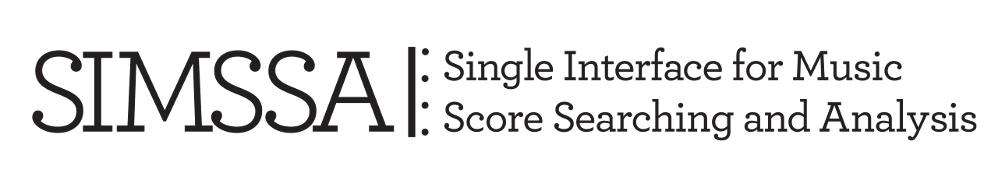 The Single Interface for Music Score Searching and Analysis Project